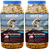 Meat Up Chicken Flavour , Real Chicken Biscuit, Dog Treats -500g Jar ( Buy 1 Get 1 Free)