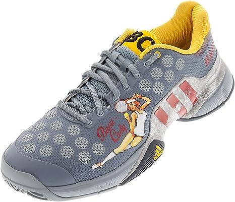 adidas Hombre Barricade 2015 Lucky Lady tenis shoe-light gris/rojo/plata metálico: Amazon.es: Juguetes y juegos