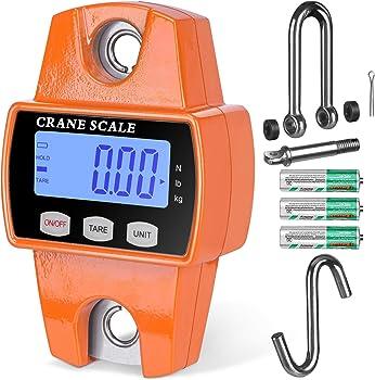 RoMech 660-lb. Digital Hanging Crane Scale with Hooks