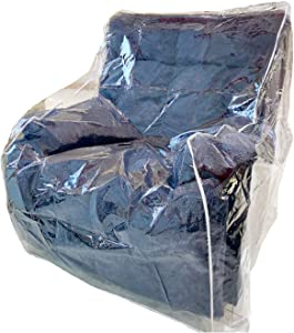 Swanna Plastic Furniture Cover – Clear Dust-Proof Moving Bag for Sofa, Heavy Duty Waterproof Couch Cover Pets | Cat Scratching Protector,Plastic Chair Cover 42