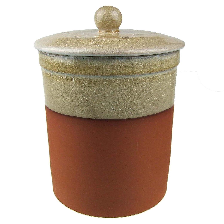 terracotta ceramic kitchen post caddy sand colour chetnole