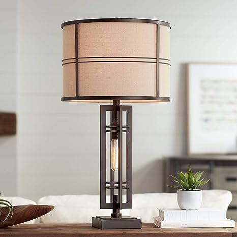Amazon.com: Elias metal lámpara de mesa de luz nocturna ...