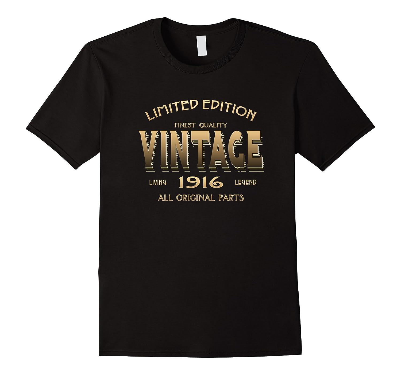 100th BIRTHDAY Gift 1923 VINTAGE T-shirt 100 Year Old Bday-BN