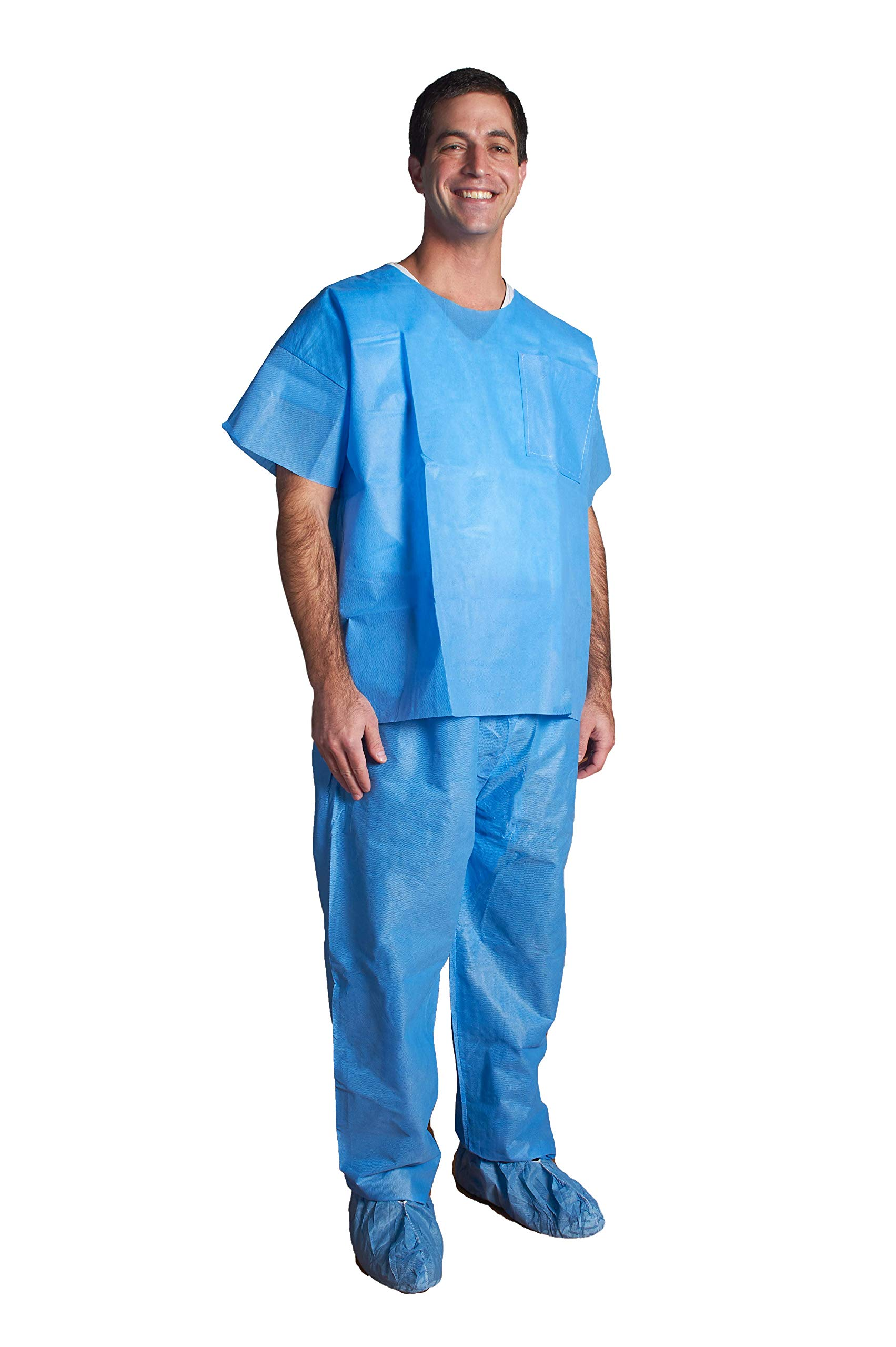 Disposable Scrub Pant, Blue- ASP Medical (2XL) by Tiger Medical