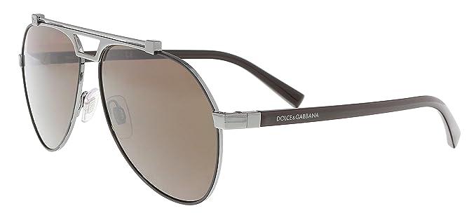 Dolce & Gabbana 0Dg2189 Gafas de sol, Matte Brown/Gunmetal ...