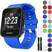 GVFM Band Compatibel met Garmin Forerunner 35, Zachte siliconen vervangende horlogeband voor Garmin Forerunner 35 Smart Watch, Fit 5.11-9.05 Inch (130-230 mm) Pols