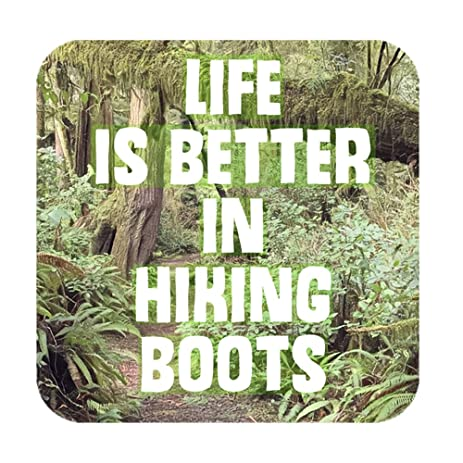 Life is better in hiking boots bumper sticker nature vinyl sticker outdoors decal