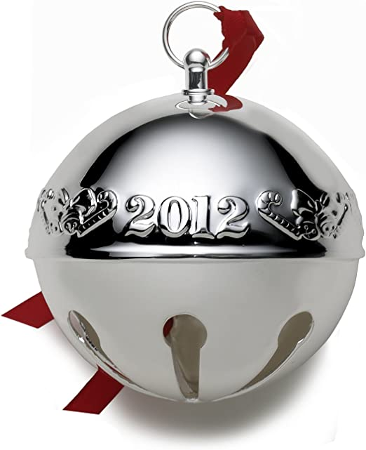 2012 Christmas Bell Ornament Silver New w//Tags