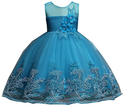 b7331ecbd Amazon.com  Shiny Toddler Little Big Girls Flower Applique Lace ...