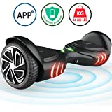 TOMOLOO Hoverboard with Bluetooth Speaker and Light - Black Hover Board with App UL2272 Certified for 265 lbs MAX Weight …