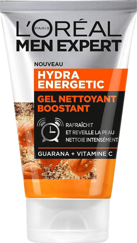 Men Expert Hydra Energetic Gel Limpiador boostant Visage para hombre 100?ml - Paquete de 2