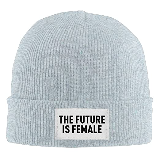 7e9fa7d273199 The Future Is Female Feminism Mens Insulated Skull Beanie Hat Graphic-Print  Classic Slouchy Beanie