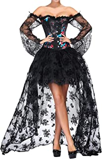 e77a8da82b EmilyLe Mujeres Deshuesado Corsé Gótico Halloween Vestido Clubwear Fiesta  Traje