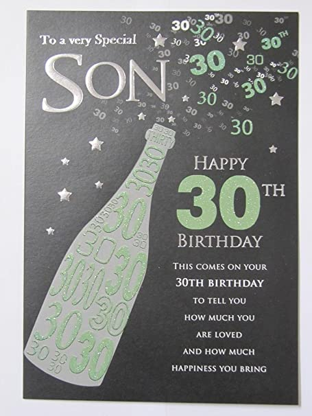 Stunning Top Range To A Very Special Son Happy 30th Birthday