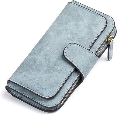 Women Wallet Long Leather Purse Elegant Envelop Handbag for Card Cash Holding