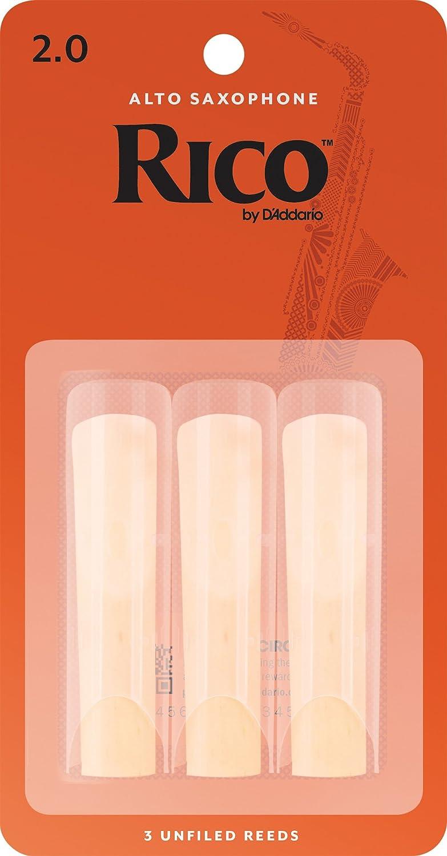 Rico Anches Rico pour saxophone alto, force 2.0, pack de 3 D'Addario Ltd RJA0320