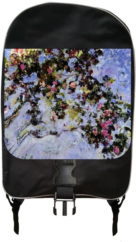 Artist Claude Monets Rose Bush Painting Print Design Backpack