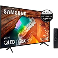 """Samsung QLED 4K 2019 55Q60R  - Smart TV de 55"""" con Resolución 4K UHD, Supreme Ultra Dimming, Q HDR, Inteligencia Artificial 4K, One Remote Control, Apple TV y compatible con Alexa"""