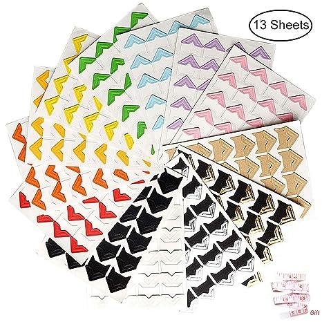 10 Sheets Photo Corners Self Adhesive Stickers Wowot Photo Mounting Paper Corne