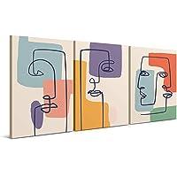 Cuadros Decorativos de Arte Abstracto Moderno - 30 x 40 x 2 cm (Pack 3) - Decoración de Pared para Salón, Dormitorio…