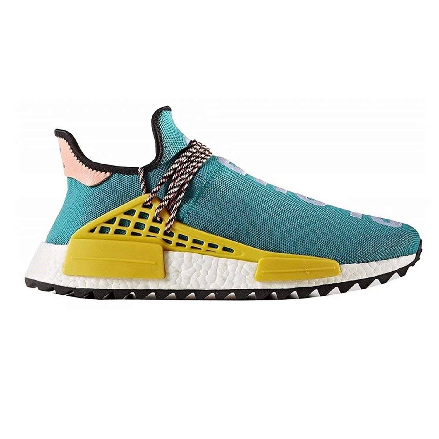 Men's Casual Breathable Lightweight Turnschuhe Trail Human Race Pharrell schuhe Free Fashion Turnschuhe Lightweight Light Blau EU42 de5e66