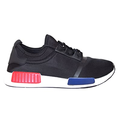 MENS RUNNING TRAINERS GENTS FITNESS GYM SPORTS YEEZY BOOST SHOCK SHOES  40-45[Black
