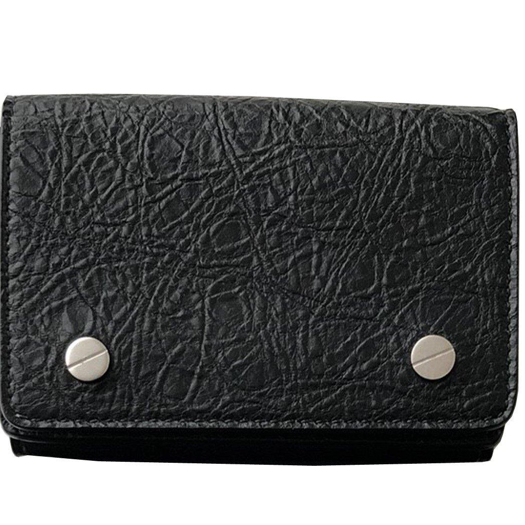バレンシアガ BALENCIAGA メンズ 三つ折り ミニ 極小 財布 ウォレット mini wallet 直営店 ギフト包装 B07B9QBV2H ブラック ブラック