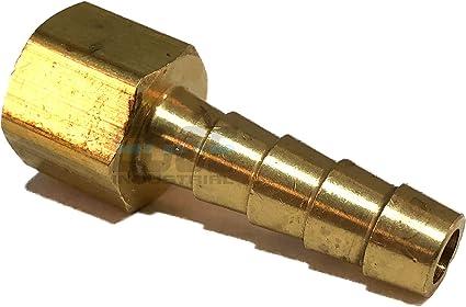 "QTY Brass Fittings: Brass Female Hose Barb Female Pipe 1//8/"" Hose ID 1//8/"" 25"
