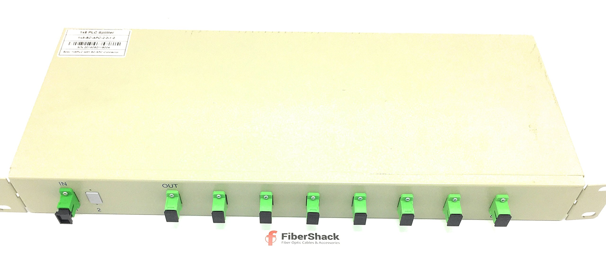 Single Mode Fiber Optic Splitter - 1 x 8 Rack Mount PLC - Commercial QUALITY by PacSatSales