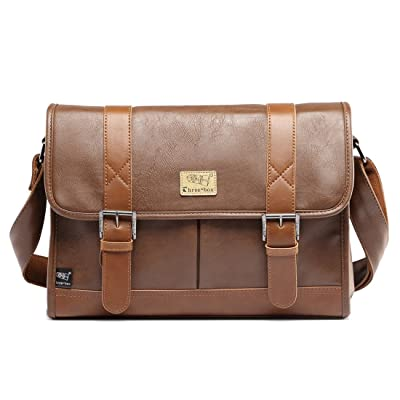 60%OFF Alafe Retro Pu Leather Messenger Bag for Laptop Briefcase Business Satchel