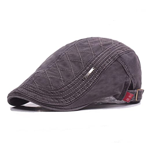 100% Cotton Men Gatsby Cap Newsboy Ivy Hat Vintage Gorras Casquette Women Unisex Beret Cabbie, 1, 55-60cm at Amazon Womens Clothing store: