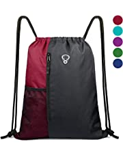 BeeGreenDrawstring Bag Sports Backpack for Women Gym Bag Mens Large Swim Bag  with Zipper and Mesh 9cf55b931548c