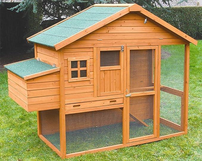 FINCA CASAREJO Gallinero Dakota. Ideal para jardín. con ponedero, Parque, Bandeja de excrementos y almacén: Amazon.es: Jardín