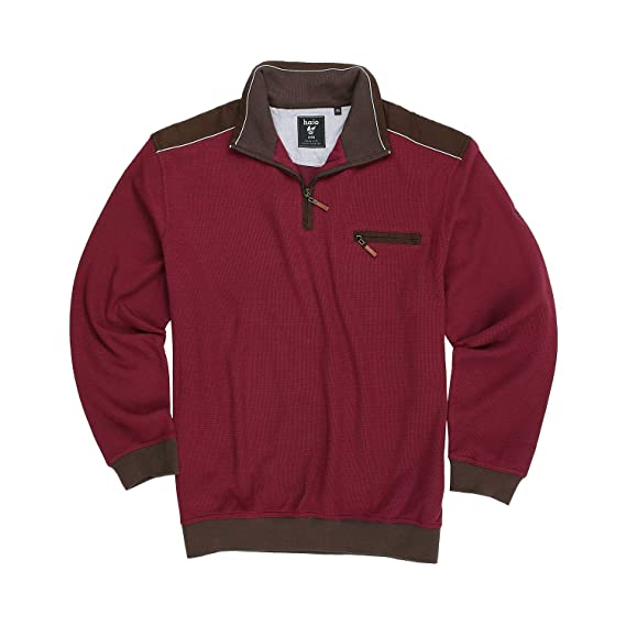72a9e1b36ebf hajo Troyer Sweatshirt  Stay Fresh  in dunkelrot Herren bis Übergröße 6XL,  Größe