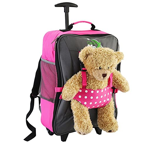 Cabin Max Bear Childrens Luggage Carry On Trolley Suitcase - Take Your Favourite Bear/Doll/Action Figure on Holiday