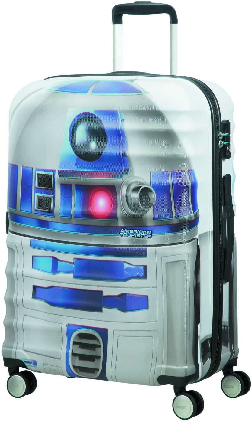 American tourister - Disney Wavebreaker Star Wars R2D2, Maleta Spinner 67/24, 67 cm, 64 L, 4.5 KG Multicolour (Star R2d2)