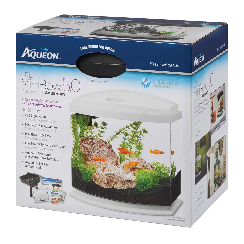 Aqueon MiniBow LED Kit, White, 5 Gallon
