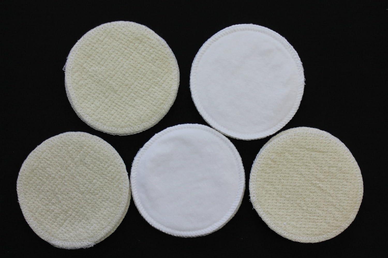10 St/ück Stilleinlagen Baumwolle//Wolle//Bourette Seide 3-lagig 13,2 cm waschbar Mehrweg Einlagen NEU