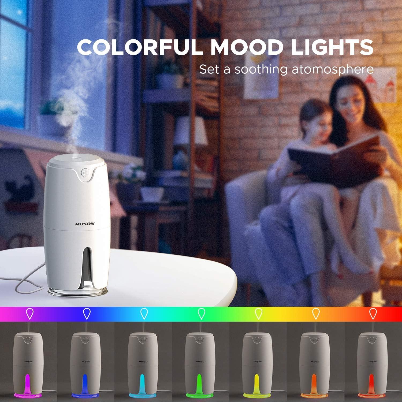 Humidificador Muson con luz multicolor por sólo 4,99€ (marcando aplicar cupón)