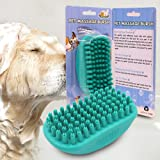 Petgrow Bath Brush for Dogs and Cats,Pet Super Soft Silicone Grooming Massage Shower Shedding Comb Self Hair Removal Cleaning Slicker Brush