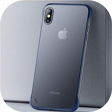 La Caja Transparente de teléfono Mate Duro para el iPhone X 6 7 8 ...