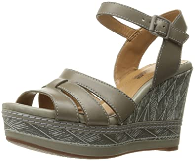 Clarks Women's Zia Noble Wedge Sandal, Sage Leather, ...