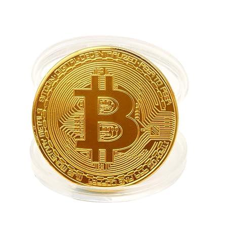 Hlhn 1x Gold überzogene Bitcoin Münze Sammler Geschenk Btc Münze