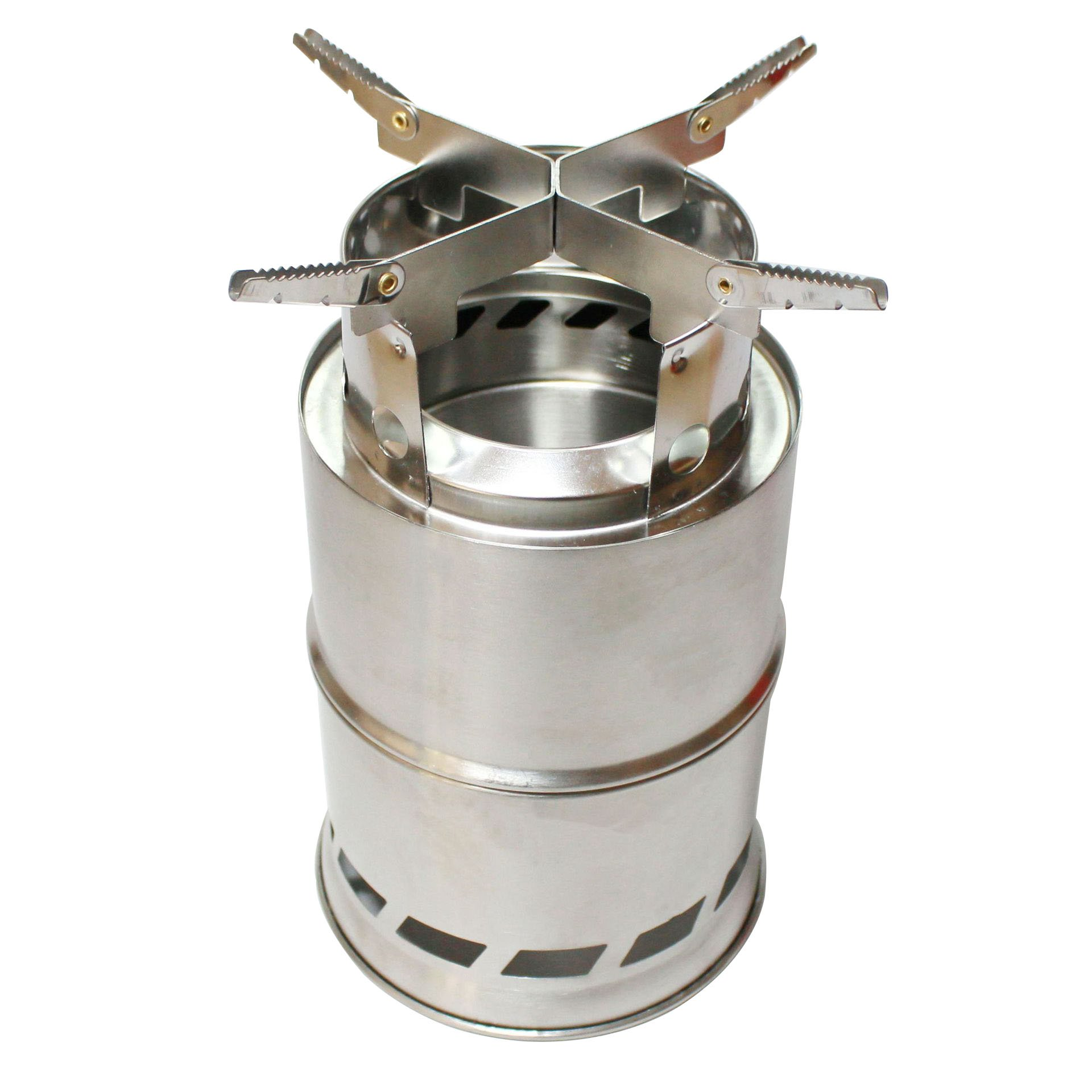 kbxstart Camping Stove, Wood Stove/Backpacking Stove,Portable Stainless Steel Wood Burning Stove for Outdoor Picnic BBQ Camp Hiking