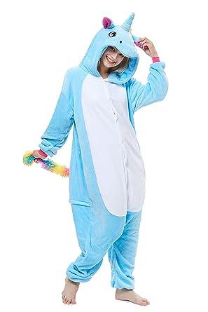 7fc30141e693 Amazon.com  Yutown Adult Unicorn Pajamas Animal Costume Cosplay Onesie   Clothing