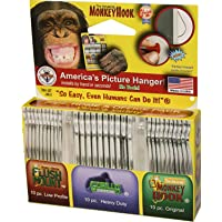 Monkey Hooks Picture Hangers Home and Office Pack, Gorilla Hook, Drywall Hooks for Hanging Pictures, Wall Hooks, Picture…
