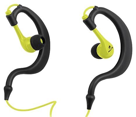 NGS Triton - Auriculares in-Ear Deportivos, Color Negro y Amarillo