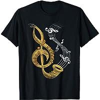 Regalo Divertido Para El Saxofonista Clave De Sol Saxofón Camiseta