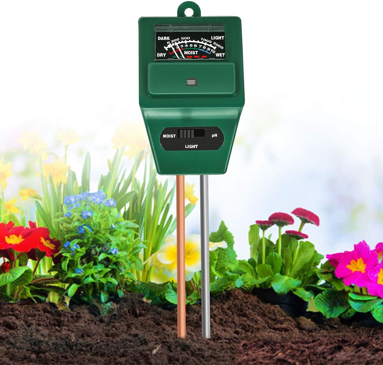 Outils de Jardinage Instrument de pH de Sol Sol PH M/ètre Testeur Hygrometer Capteur dhumidit/é Portable Instrument de pH