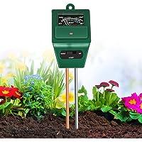 Xddias bodemtester, 3 in 1 plantvochtigheid/licht/pH-zuurmetertester, bodemwatermeter Hygrometer voor tuinverzorging…